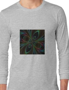 Neon Rainbow Digital Art Long Sleeve T-Shirt
