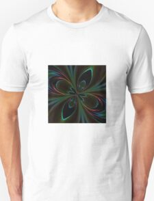 Neon Rainbow Digital Art Unisex T-Shirt