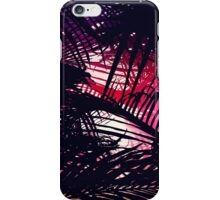 Tropical Purple & Red Sunset Palm Fronds iPhone Case/Skin