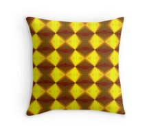 Bold Red, Green and Gold Repeating Pattern Throw Pillow