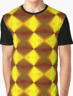 Bold Red, Green and Gold Repeating Pattern Graphic T-Shirt
