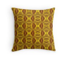 Luxury Red and Gold Christmas Kaleidescope Throw Pillow