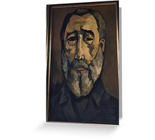 Cuba - Miramar - painting of Fidel Castro Greeting Card