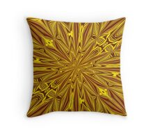 Luxury Red and Gold Foil Christmas Kaleidoscope Throw Pillow