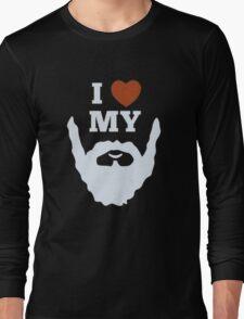 Funny I Heart Love My Beard Long Sleeve T-Shirt