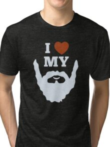 Funny I Heart Love My Beard Tri-blend T-Shirt