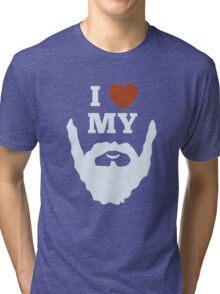 Funny I Heart Love My Beard Tri-blend T-Shirt