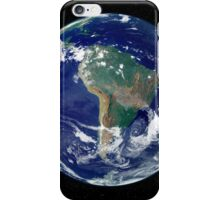 Fully lit Earth centered on South America. iPhone Case/Skin