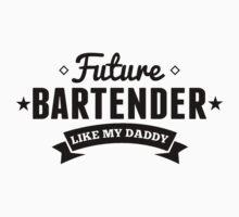 Future Bartender Like My Daddy Kids Tee