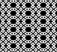 Arrows and Diamond Black and White Pattern 3 by taiche