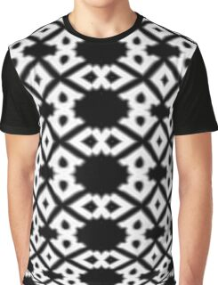 Diamond and Circles Black and White Pattern Graphic T-Shirt