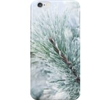 Hoar Frost Pine Branch iPhone Case/Skin