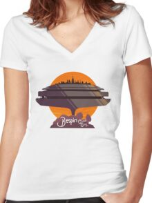 Bespin: Cloud City Women's Fitted V-Neck T-Shirt