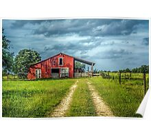 Red Barn Rustic Poster