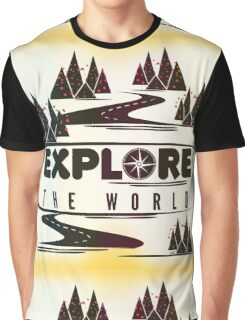 Explore the world. Typography Graphic T-Shirt
