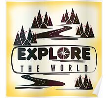 Explore the world. Typography Poster