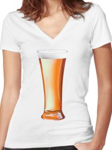 Glass Beer Women's Fitted V-Neck T-Shirt