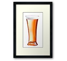 Glass Beer Framed Print