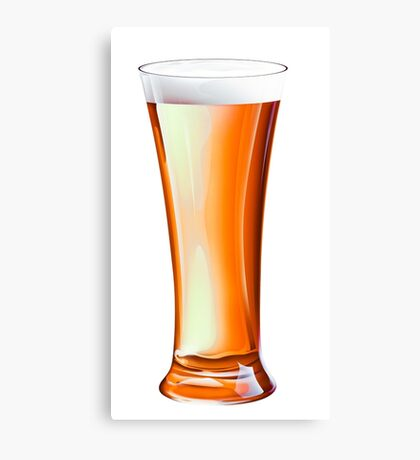 Glass Beer Canvas Print