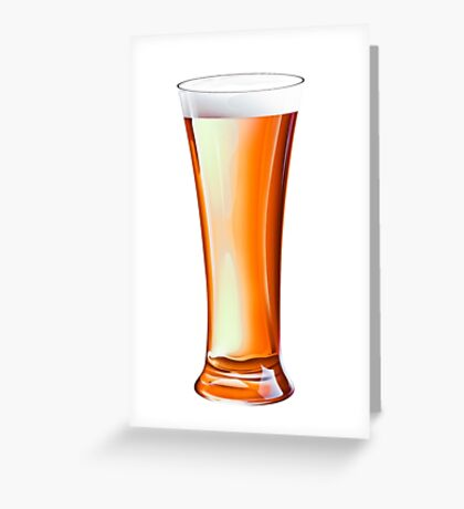 Glass Beer Greeting Card