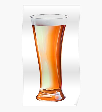 Glass Beer Poster