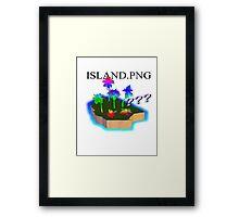 Lost Island vaporwave Aesthetics Framed Print