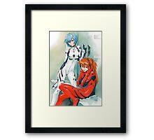 Evangelion - Rei and Asuka Framed Print