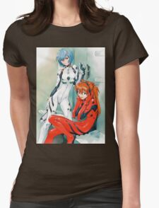 Evangelion - Rei and Asuka Womens Fitted T-Shirt