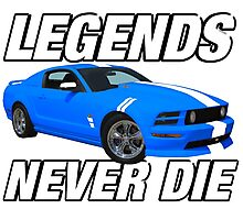 Legends Never Die Muscle Car Photographic Print