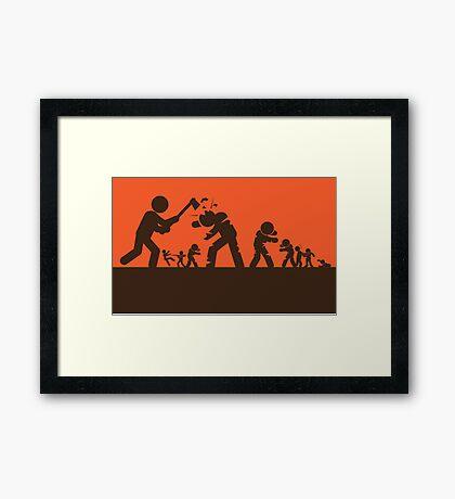 Zombie - Survival Framed Print