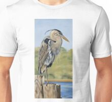 Great Blue Heron Standing Unisex T-Shirt