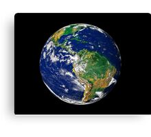 Full Earth showing South America. Canvas Print