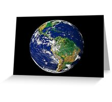 Full Earth showing South America. Greeting Card