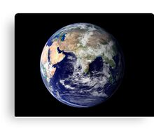 Full Earth showing Europe and Asia. Canvas Print