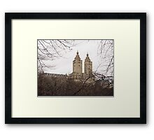 Winter in New York with the view of The San Remo Framed Print