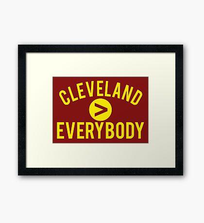 Cleveland > Everybody - Wine & Gold - Go Cavs! Framed Print