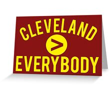 Cleveland > Everybody - Wine & Gold - Go Cavs! Greeting Card