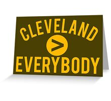Cleveland > Everybody - Brown and Orange - Go Browns - Dawg Pound Greeting Card