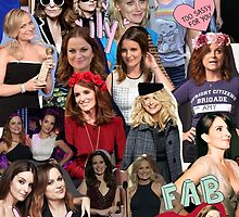 Amy Poehler & Tina Fey Collage by onceuponadesign