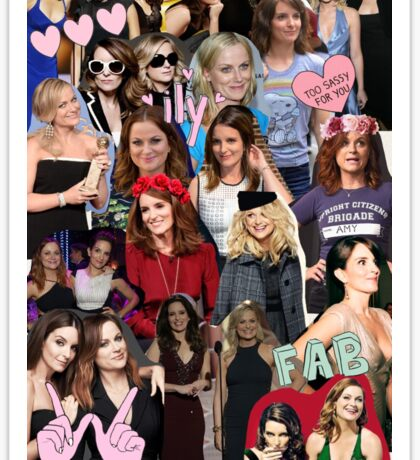Amy Poehler & Tina Fey Collage Sticker