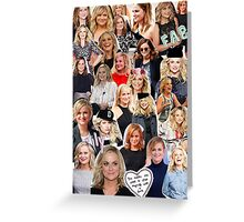 Amy Poehler Collage Greeting Card