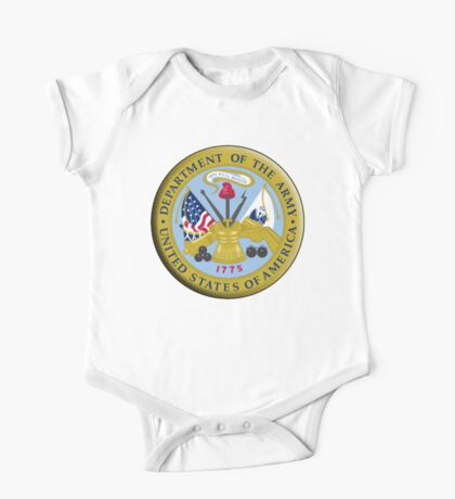 American Army, ARMY, ARMIES, USA, United States Army, Emblem of the United States, Department of the Army One Piece - Short Sleeve