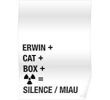 Schrödinger Paradox - Miau Poster