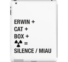 Schrödinger Paradox - Miau iPad Case/Skin