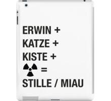Schrödinger Paradoxon - Miau iPad Case/Skin