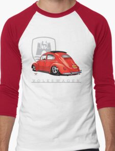 Oval Ragtop Bug Men's Baseball ¾ T-Shirt