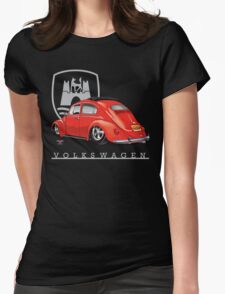 Oval Ragtop Bug Womens Fitted T-Shirt
