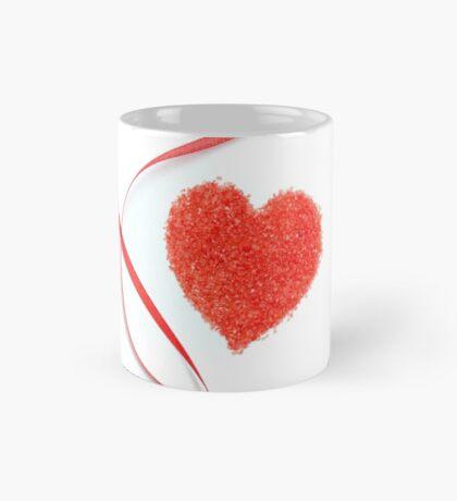 Sugar Sprinkles Heart and Red Ribbon Mug
