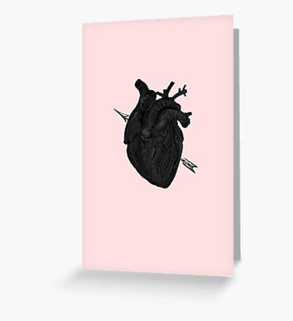 Arrow Through Heart Greeting Card