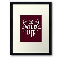 The Wild Life - version 1 - White Framed Print